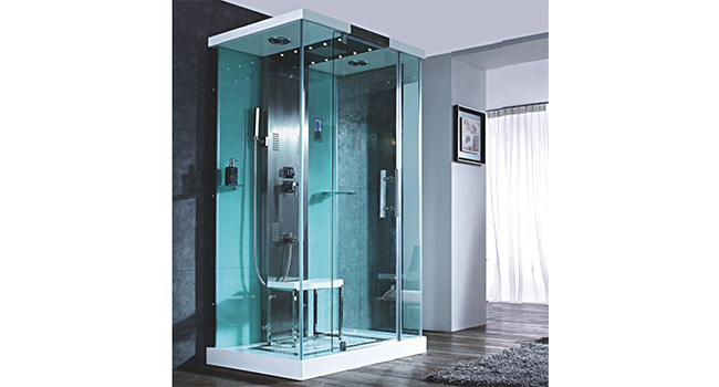 Precision White Steam Shower Cabins