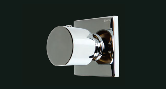 Ambire Round 4 Way Diverter Knob and Plate