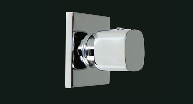 Ambire Square 4 Way Diverter Knob and Plate